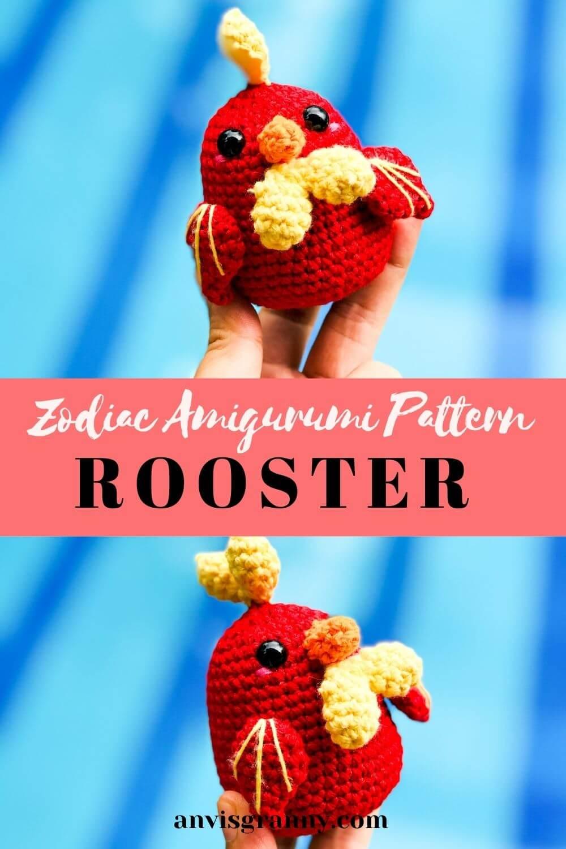 Crochet amigurumi chicken pattern for beginners