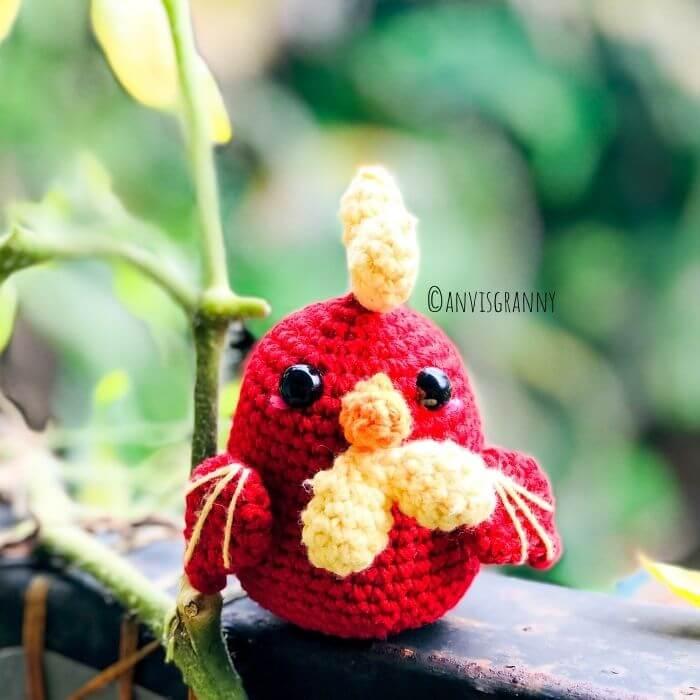 easy crochet rooster pattern for beginners