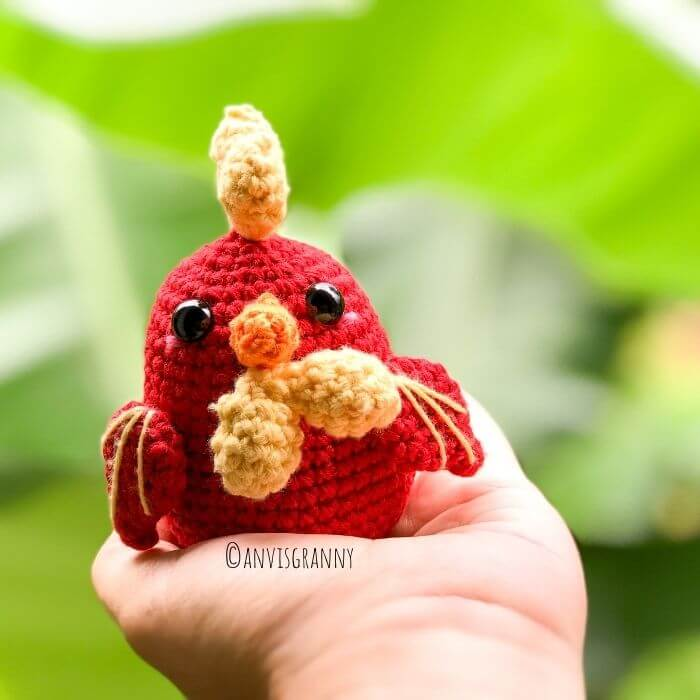 how to crochet a rooster for beginner